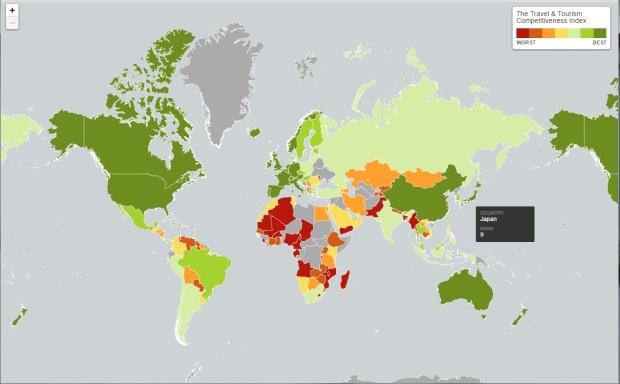 tourist ranking